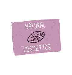 natural cosmetics design element vector image