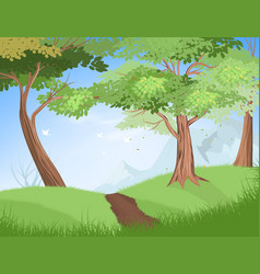 Nature trees vector