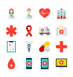 objects medicine health vector image