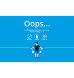 Oops error page vector