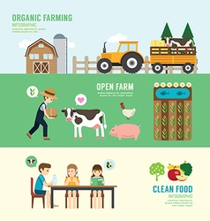 Organic Clean Foods Good Health design concept vector