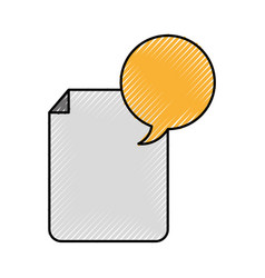 Paper document with speech bubble vector