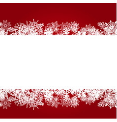 paper snowflake border on red vector image
