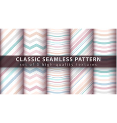 Pastel seamless line and wave pattern vector