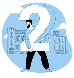 people are standing each holding a numbers vector image