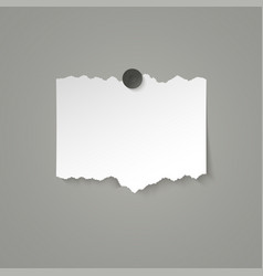 Piece white paper with torn edges vector