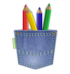 pocket with pencils vector image