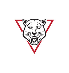 Puma and trianglel logo vector