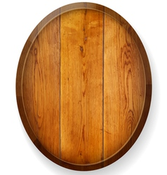 Realistic wooden round board vector