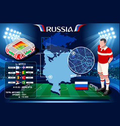 Russia moscow spartak arena vector