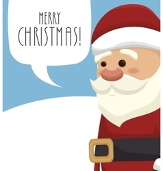 santa claus with speech bubble isolated icon vector image