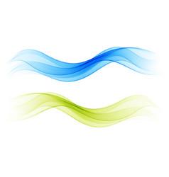 Set blend abstract wave greenwave blue wave vector