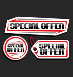 Set for special offer sale vector