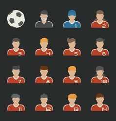 Sport football icons set vector