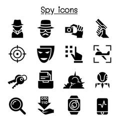 spy icon set graphic design vector image