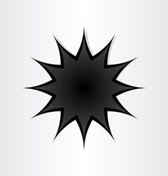 star shape hole in paper vector image