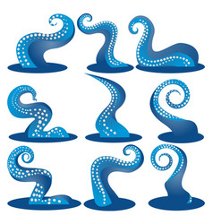 tentacles blue of an octopus diy set vector image