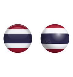 thailand flag under 3d dome button and on glossy vector image