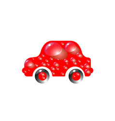 the most top-end toy car red color in drops of vector image