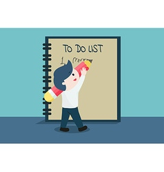 To do list cute business vector image