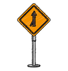 Traffic signal one way vector