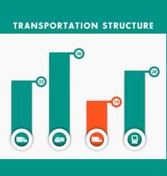 transportation structure infographics elements vector image