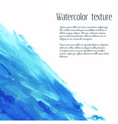 Turquoise blue watercolor texture background vector