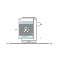 Video design concept player or tutorial in the vector image