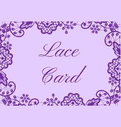 Wedding card vector