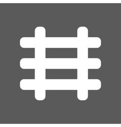White railroad icon vector