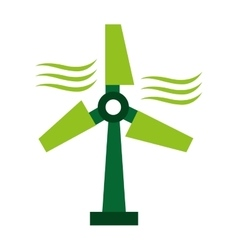 windmill energy ecology icon vector image