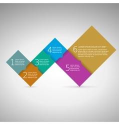 Progress steps for your presentation vector image vector image