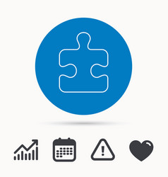 puzzle icon jigsaw logical game sign vector image