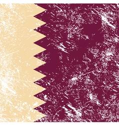Qatar retro flag vector image vector image