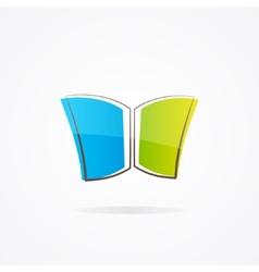 Simple book logo vector image vector image