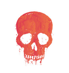 t-shirt print with painted skull over white vector image