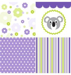 Baby pattern set vector image vector image