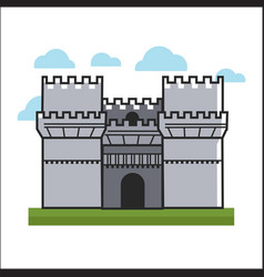 big castle on grass vector image vector image