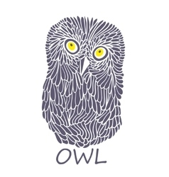Doodle owl vector image