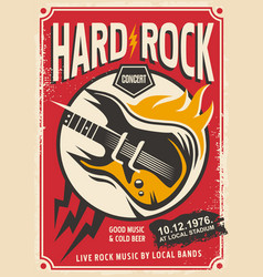 hard rock event poster template vector image vector image