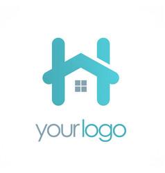 home letter h logo vector image
