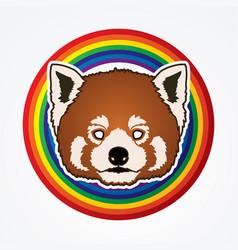 red panda head cartoon bear face vector image vector image