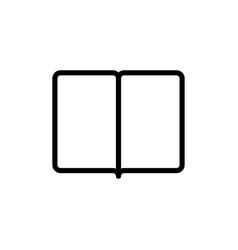 thin line book magazine icon vector image