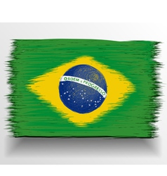 Brazil flag sketch vector image vector image