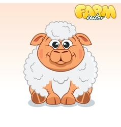 Cute Cartoon Sheep vector image