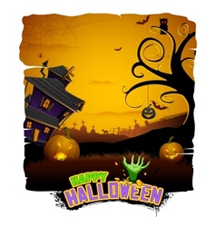 Haunted House in Halloween Night vector image vector image
