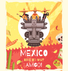 mexico travel poster vector image