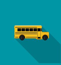 school bus flat icon vector image