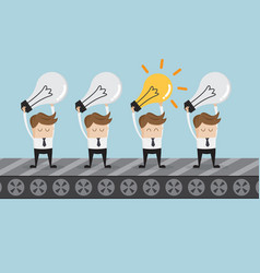 businessman standing with bulb idea vector image