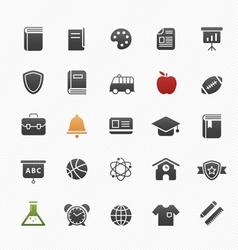 education symbol icon set vector image vector image